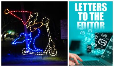 Letter to the Editor. Christmas decorations displayed at Crandon Park