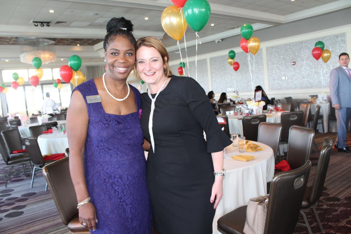 Miami Bridge CEO Dr. Dorcas Wilcox with President of the Board of Directors Marlene Quintana