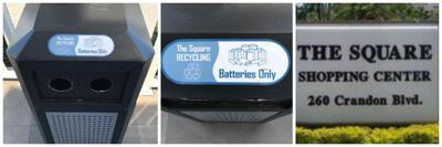 Battery recycling at Square Shopping Center