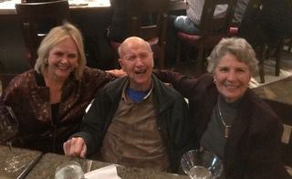 Happy Hour! (L to R) Nathalie Bartle, Hal Reaves, Evelyn Akin