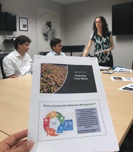 Students heard a food waste tutorial by EPA employee, Elana Goldstein.