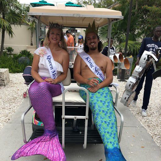 Queen Mermaid and King Neptune