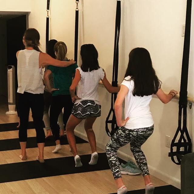 Teaching young girls during a Fit Start exercise