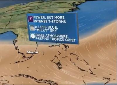 Sahara Desert dust-cloud could reach South Florida this week