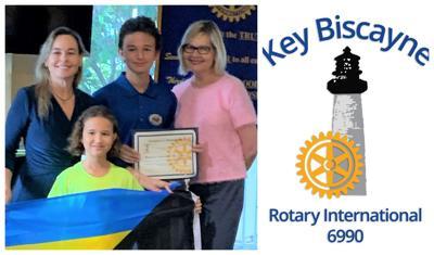 Rotary donation to Bahamas.