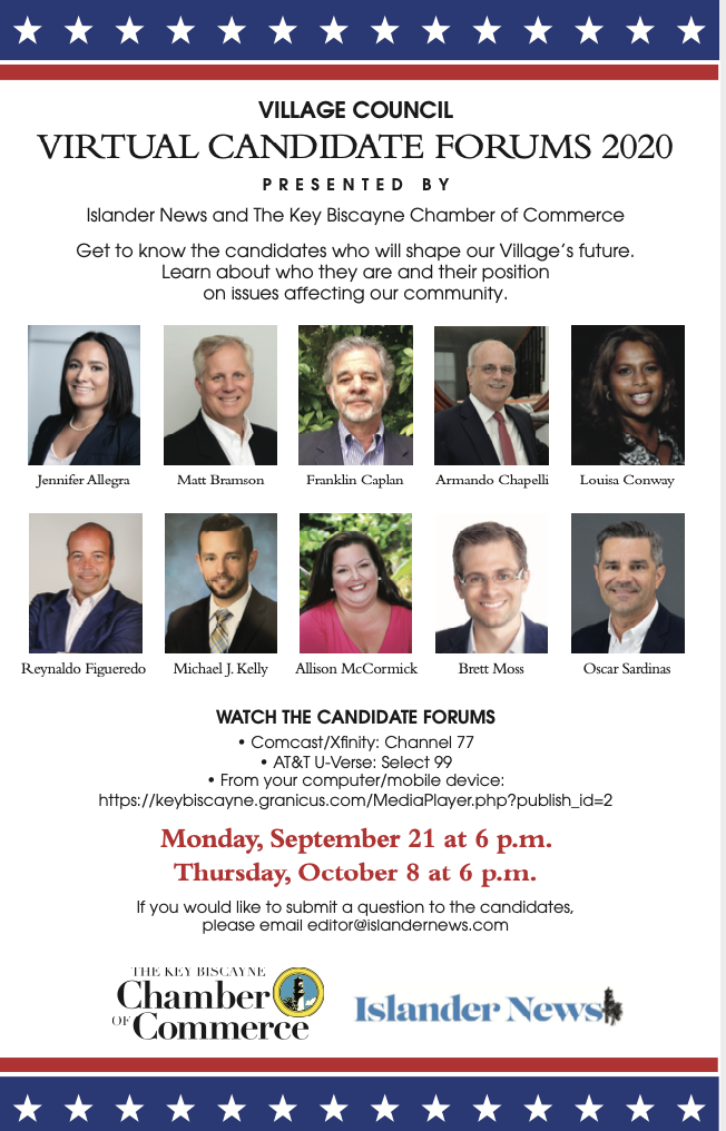 Key Biscayne Chamber of Commerce and Islander News Village Council Candidates Forum