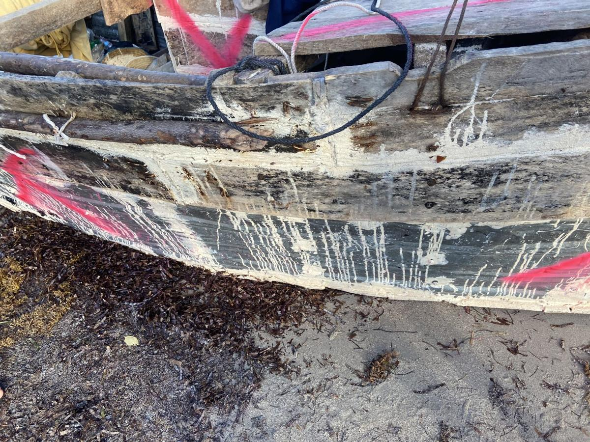 Boat with Cubans onboard comes ashore at Bill Baggs