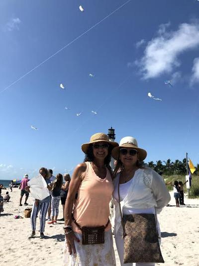 Adita Lang with mom Ivette Aguillo-Yrizarry