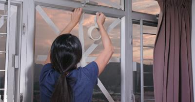 Myth 1: Taping windows will prevent them from shattering them.