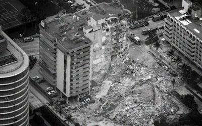 Surfside condominium collapse site.