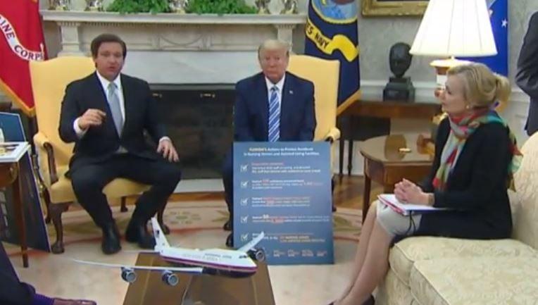 DeSantis at the White House on Tuesday, April 28