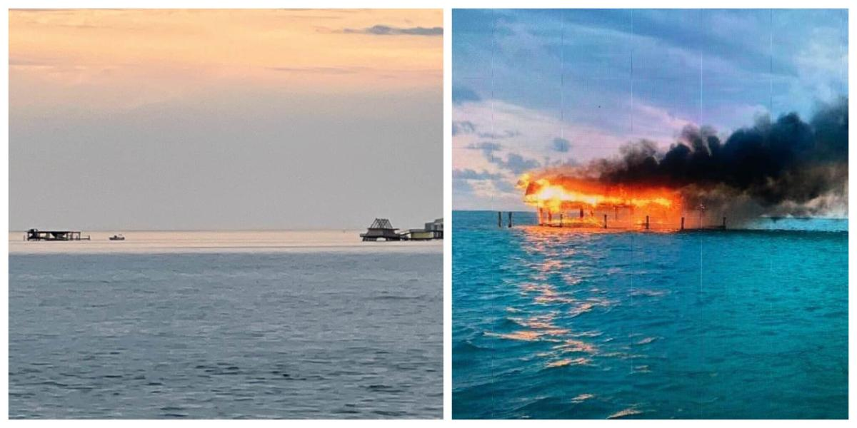 Updated. Historic Stiltsville home off Bill Baggs Park destroyed by fire