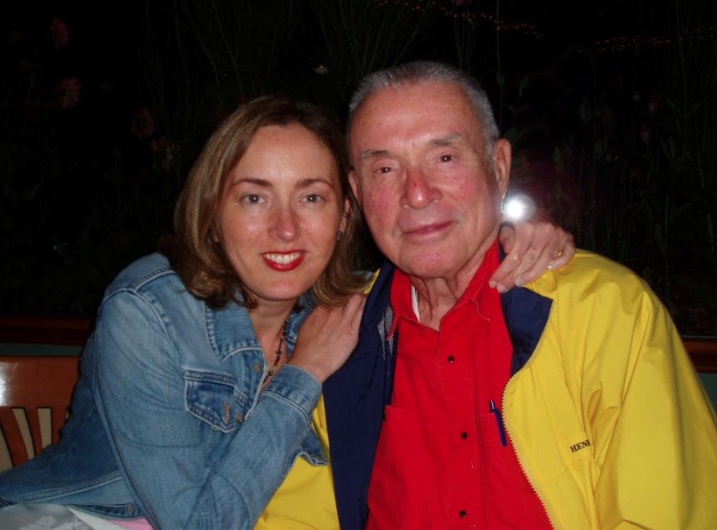 Wendy Rust with her father Robert W. Rust in 2005.