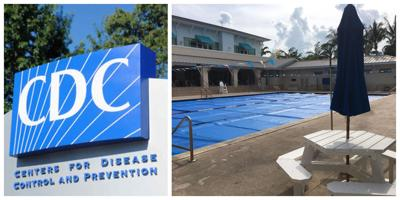 """CDC: """"There is no evidence that the virus that causes COVID-19 can be spread to people through the water in pools…"""""""