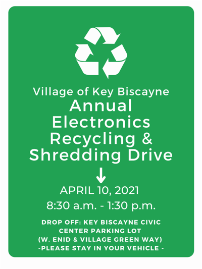 Village's 'Reduce, Reuse, RECYCLE' campaign coming Saturday