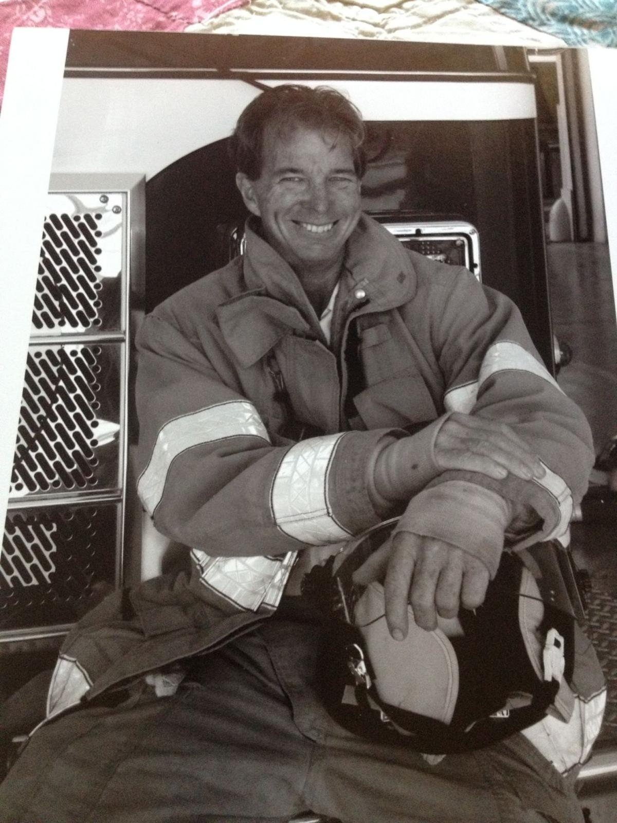 Ron Erbel in the early days as a volunteer firefighter on Key Biscayne.