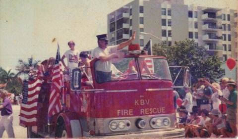The Fourth of July Parade way back when.  Photo Courtesy of Victoria Jackson