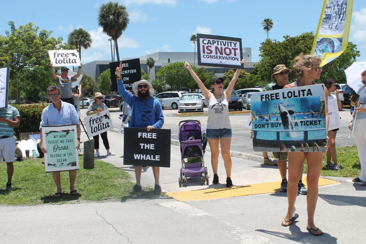 Animal advocates picketed for hours