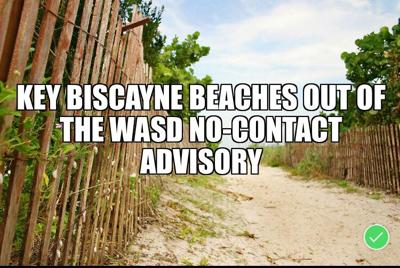WASD No-Contact advisory area reduced - key Biscayne not included