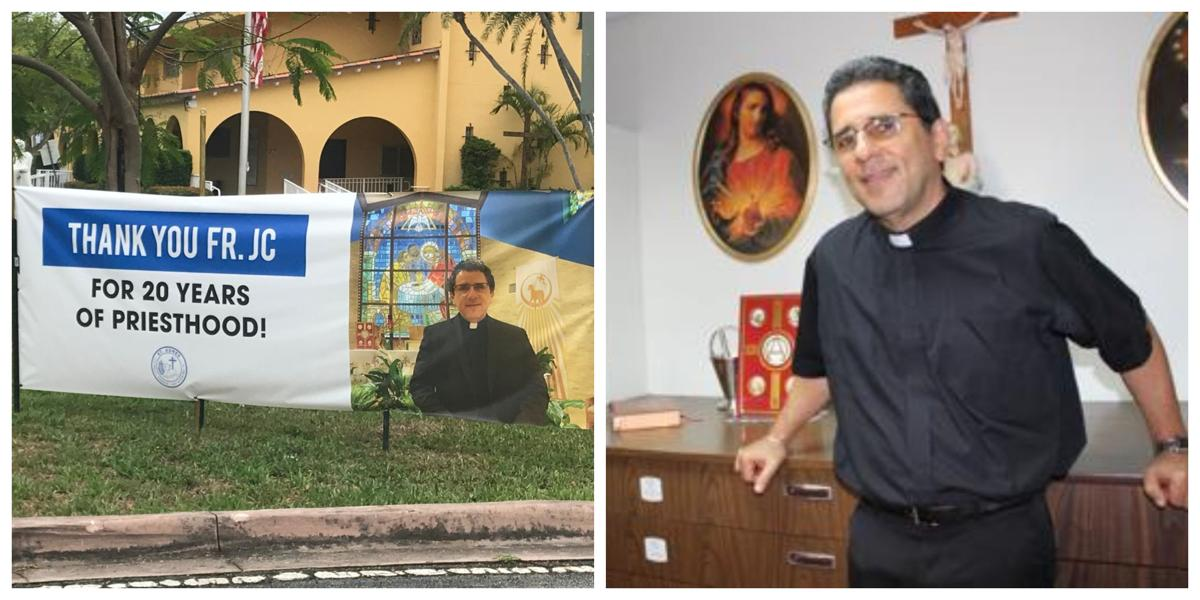 Father Juan Carlos Paguaga celebrating 20 years as a priests with major initiative at St. Agnes