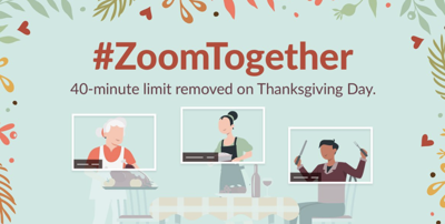 Virtual celebrations help. Zoom lifts 40-minute time limit for Thanksgiving video calls