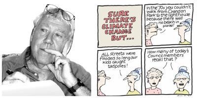 Islander News Cartoonist Peter Evans provides context for his latest editorial cartoon