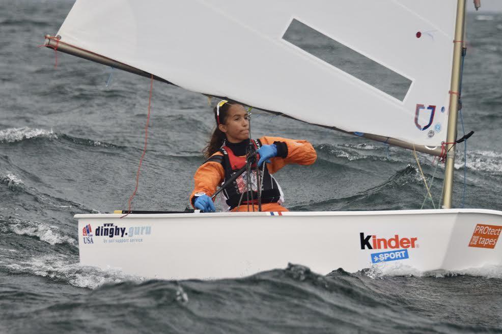 Maya competes on Lake Garda, Italy