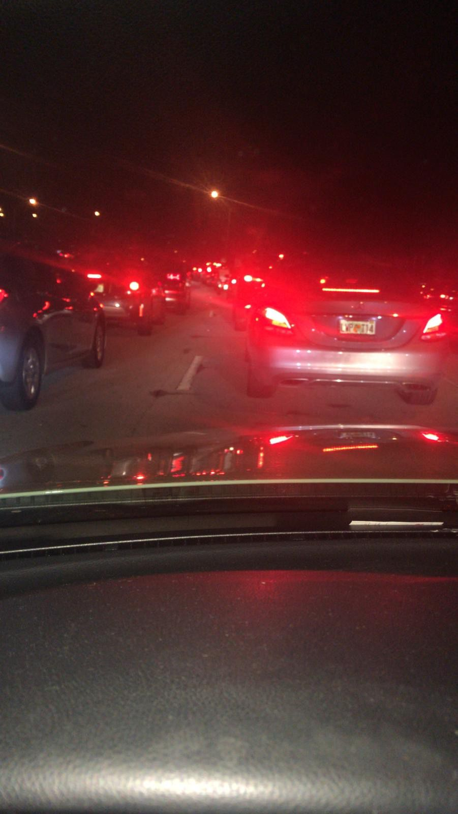 Rollover crash closes access to Key Biscayne Saturday evening causing severe traffic jam