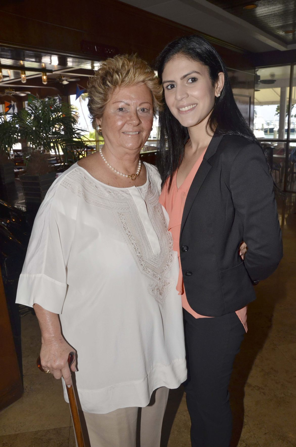 Jennifer Media and interim and former Village Clerk Conchita Alvarez