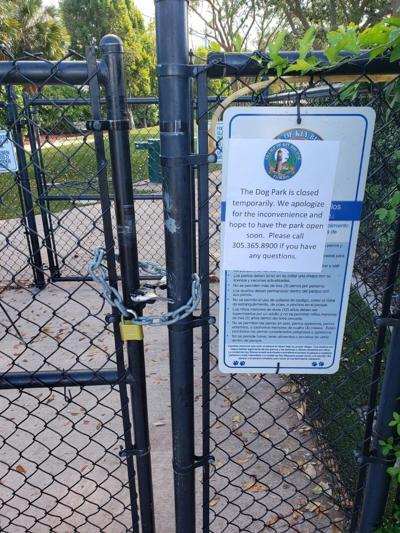 Dog park closed