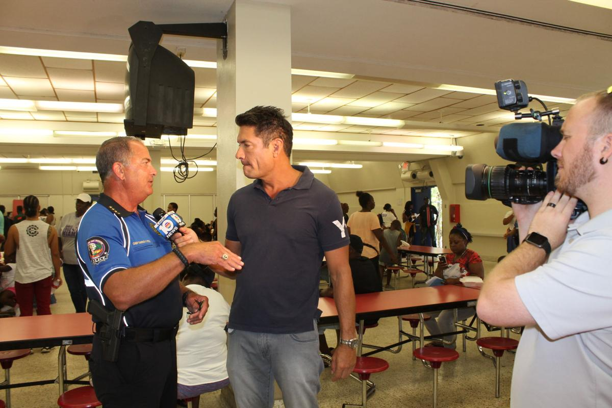 WPLG Channel 10 Anchor Louis Aguirre interviews KB Police Chief Charles Press