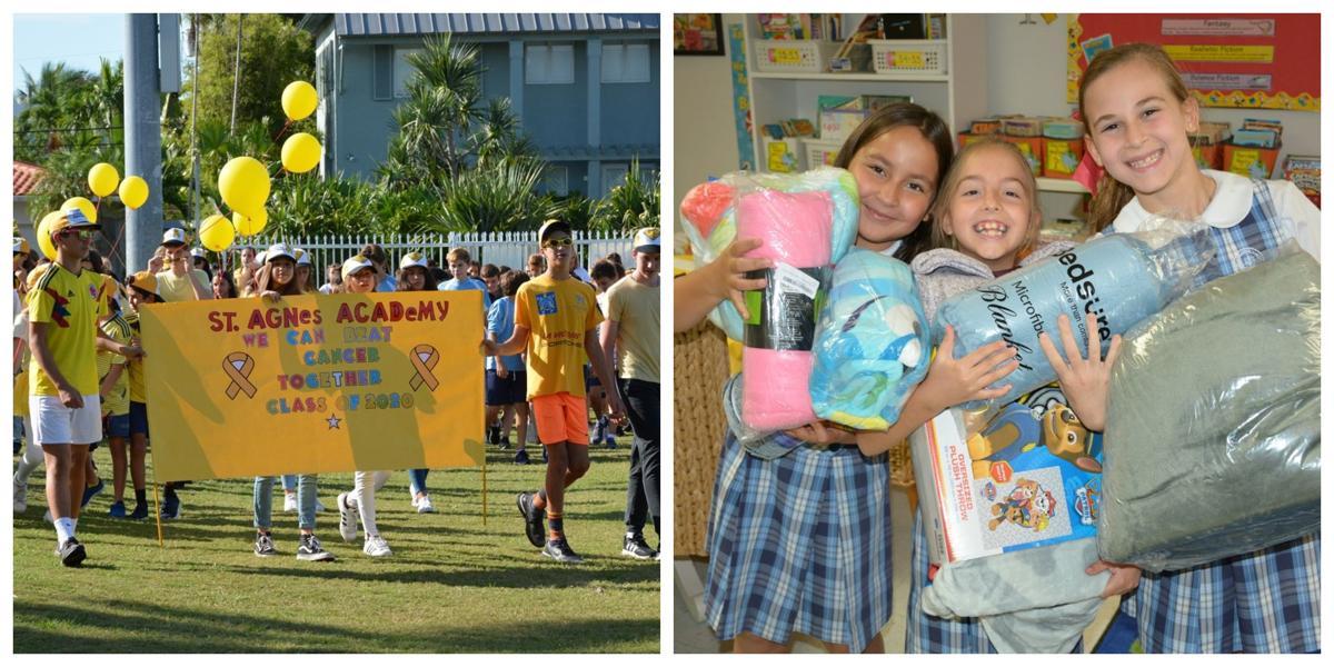 St. Agnes Academy walk for Childhood Cancer Awareness