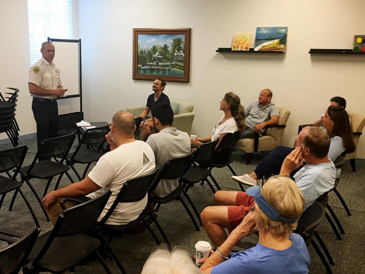 Key Biscayne Fire Department Chief Eric Lang reviews hurricane preparedness