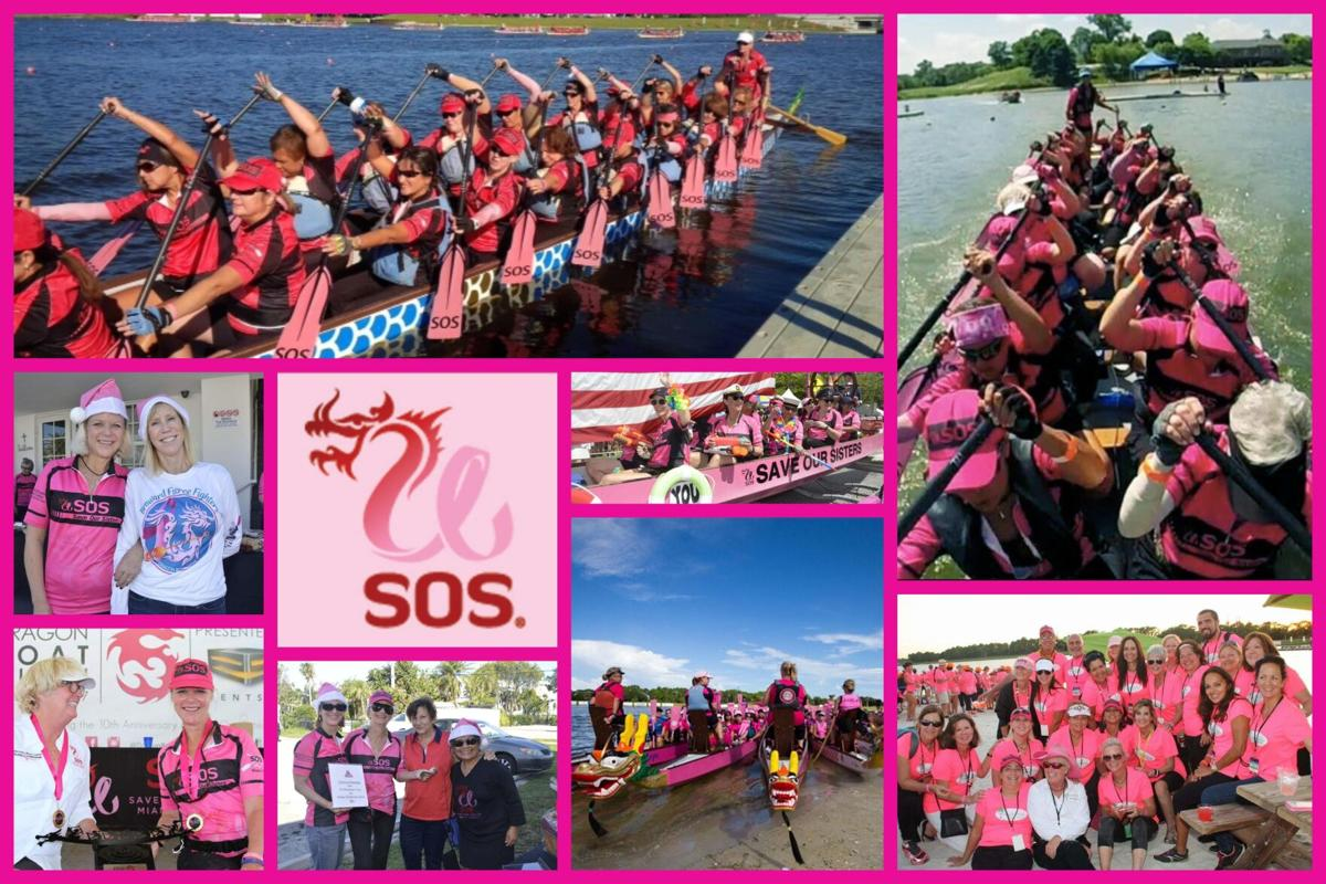 Save Our Sisters are in the pink -- using dragon boat racing to spread the word about breast cancer.jpg
