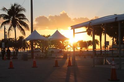 Boat Show security restricting access to Virginia Key's Miami Marine Stadium