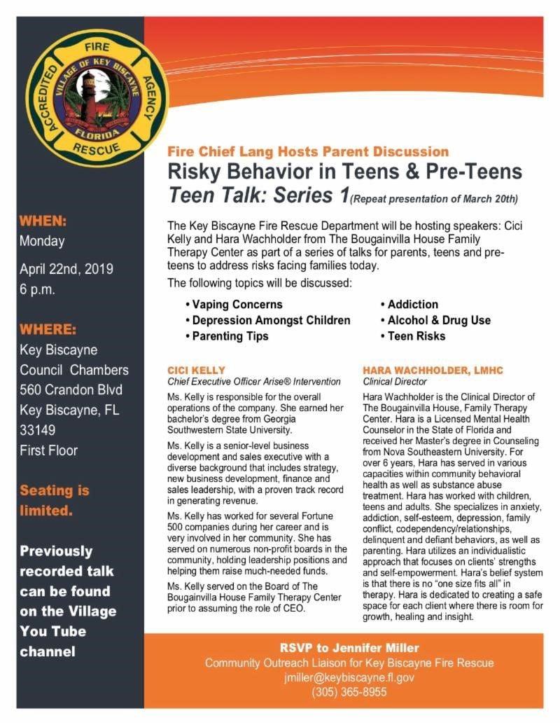 Teen talk agenda and topics
