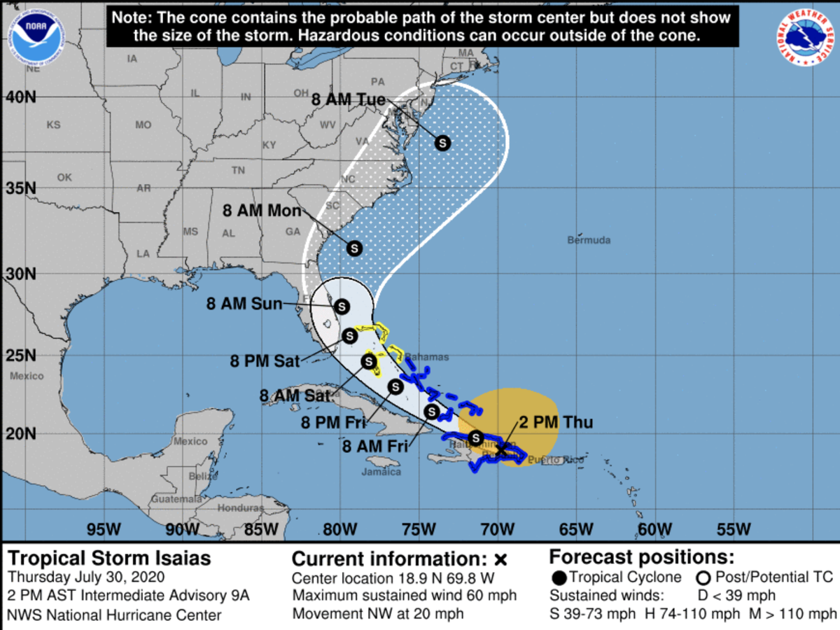 Tropical Storm watch issued for part of South Florida