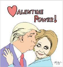Peter Evans V-Day cartoon