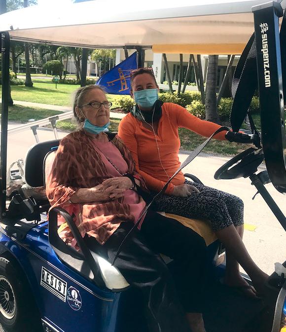 Carol Murray and her Senior Volunteer Christina Bracken