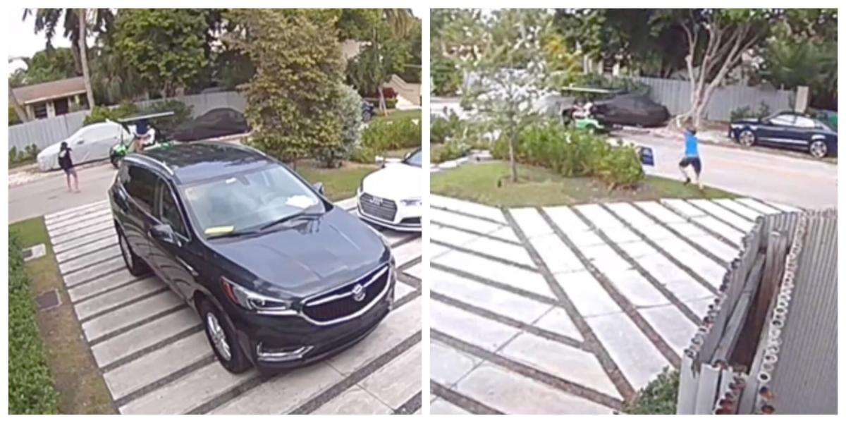Cameras capture golf cart thieves removing Biden signs from yards.jpg