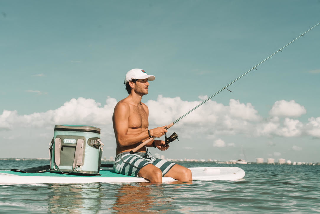 Andres Estrella has all he needs for a day out on the water
