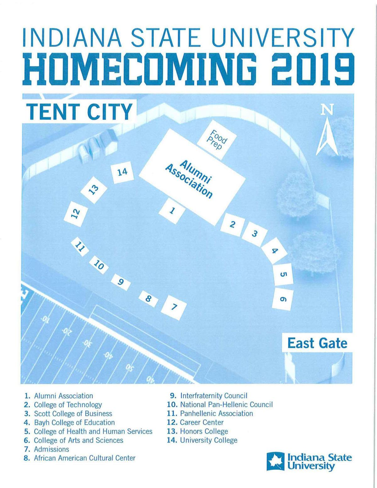 Indiana State will roll out its new Tent City at Homecoming