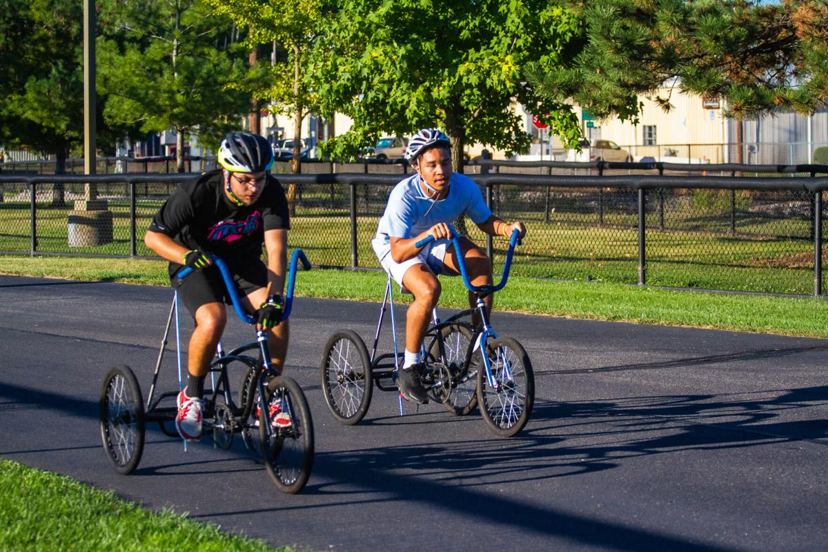Trike: ISU students practice for the Homecoming event