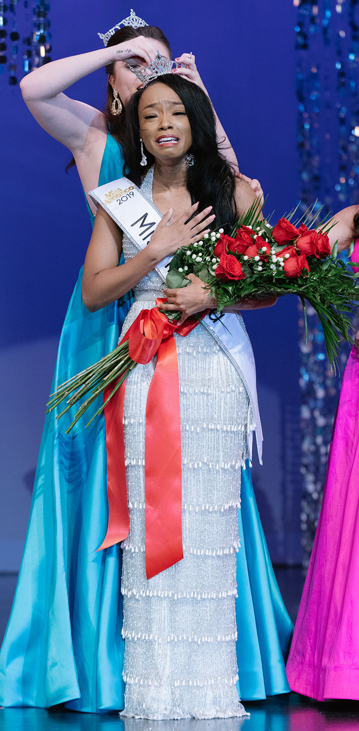 Tiarra being crowned