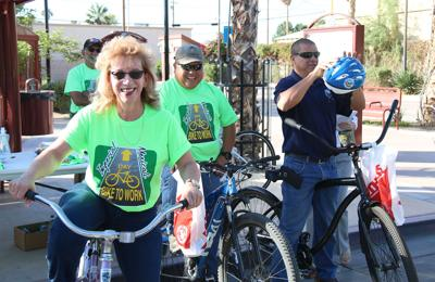 Bike to work day has cyclists circulating city in Tour de Brawley