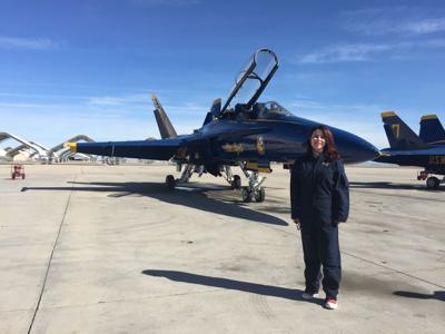 Principal takes part in flight with Blue Angels
