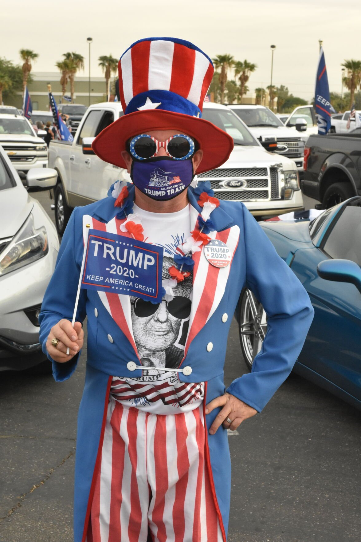Hundreds turn out for Trump rally