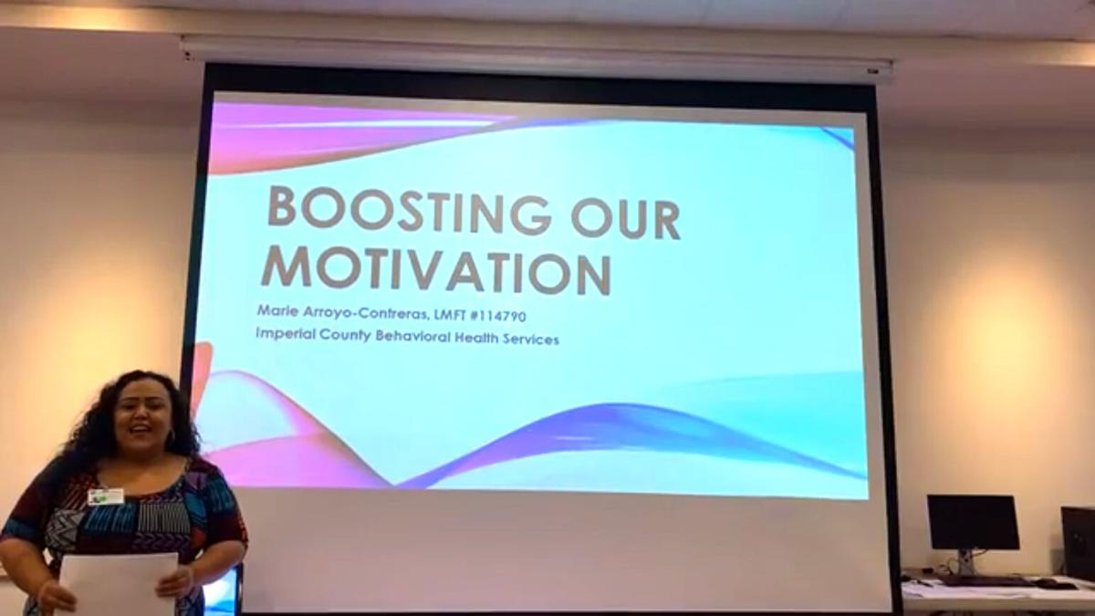 Presentation encourages boosting motivation while stuck at home