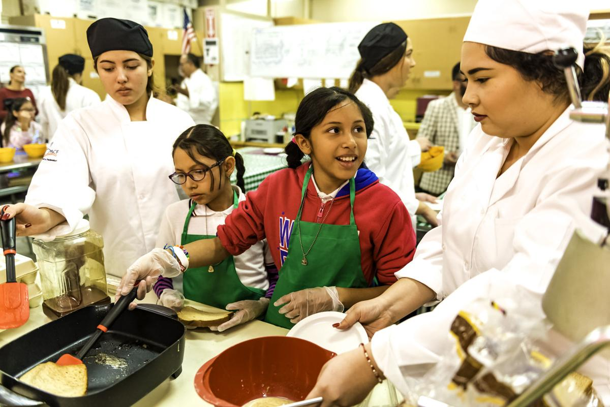 'A,' as in appetizing: CHS culinary arts class share skills with elementary students
