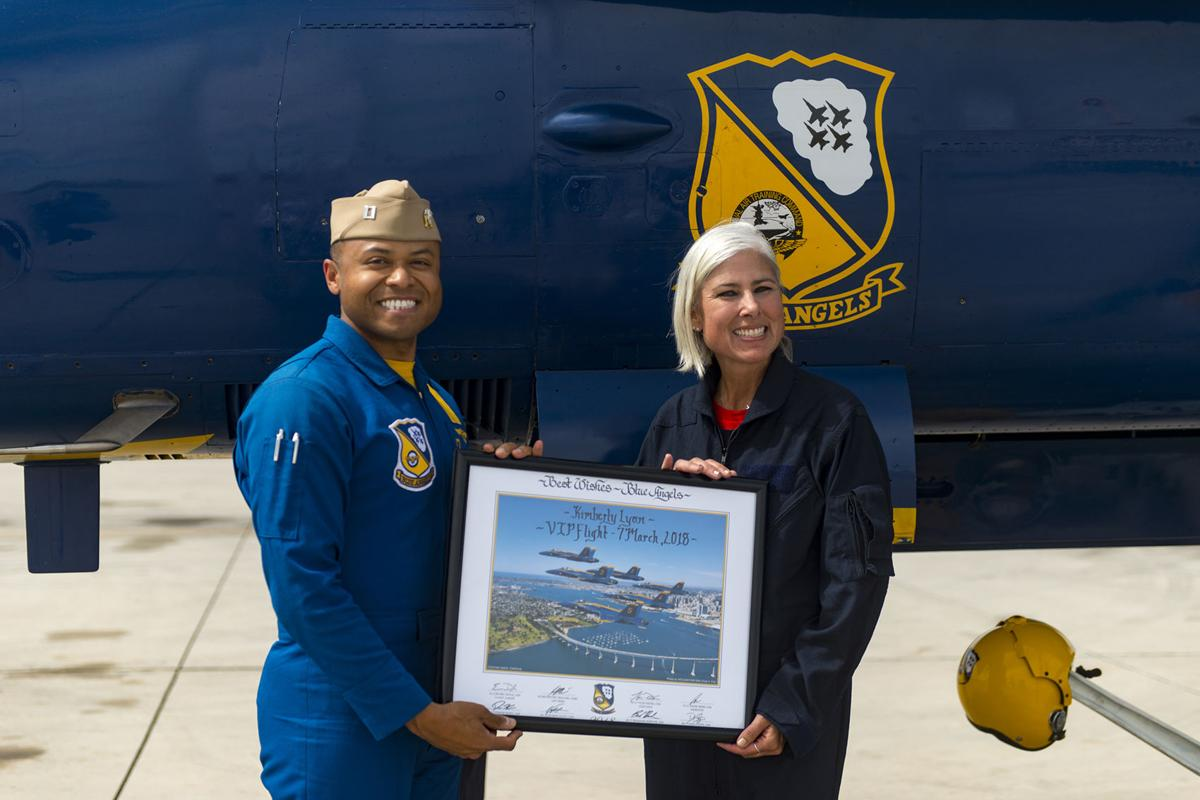 Two locals honored with Blue Angel ride